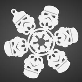 Flocons de neige Storm Trooper