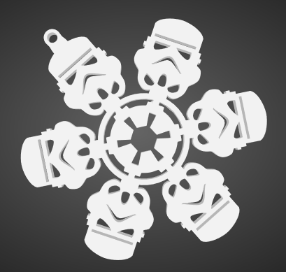 flocons neige storm trooper