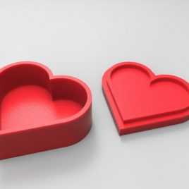 boite forme coeur