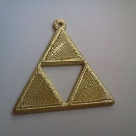 Porte-clés Zelda Triforce