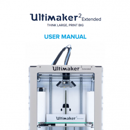 Notice Ultimaker 2 Extended