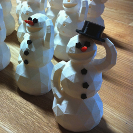 Bonhomme de neige 3D design