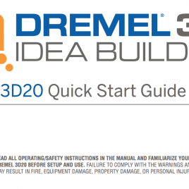 Notice Dremel Idea Builder
