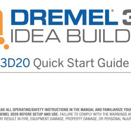 Notice Dremel Idea Builder