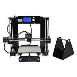 ALUNAR Upgraded DIY Desktop Imprimante 3D Reprap Prusa i3 Kit, Haute Précision Auto-Assemblage Tridimensional FDM Imprimante, Multicolore Machine d'impression-EU