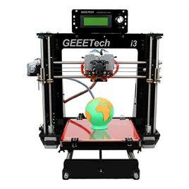 Geeetech Prusa Acrylique I3 Pro c structure à bricoler imprimante 3D en kit DIY,5 types de filament , Imprimante 3D de Bureau avec double extrudeur pour 2 couleurs