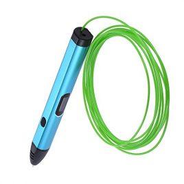 KKmoon DIY 3D Stylo Pen Imprimante à Peindre Impression Filament Entrée OLED Ecran + 9M * 1.75mm PLA Filament (Couleur Aléatoire), Cadeau Idéal pour Enfants