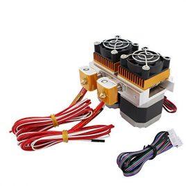 Redrex 0,4 mm Double MK8 Extrudeuse avec Nema 17 Haute Couple Stepper Motor pour 3D Imprimante Makerbot Prusa i3