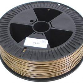 German RepRap 100182 Acide polylactique (PLA) Or 2100g matériel d'impression 3D – matériaux d'impression 3D (2,1 kg, 3 mm)