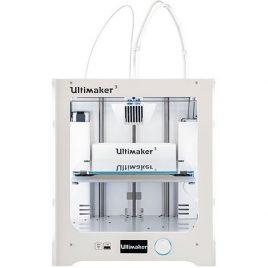 Imprimante 3D – Ultimaker 3 – Imprimante 3D couleur professionnelle à 2 têtes d'impression compatible tous matériaux – Wi-Fi/Ethernet/USB