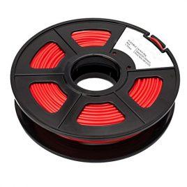 SODIAL(R)Nouveau Flexible Elastic PLA 1.75mm filament d'impression 3D – 0.5kg Spool (1.1 lbs) – Precision dimensionnelle +/- 0.03mm (rouge)