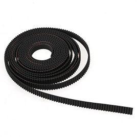 WEONE Timing caoutchouc noir 2M RepRap GT2 Rubber Belt 6mm large 2mm pitch 2GT pour imprimante 3D RepRap Rostock Prusa Mendel