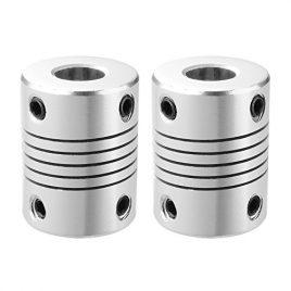 XCSOURCE 2pcs Coupleur de Tige flexibles 5mm x 8mm NEMA 17 pour Imprimante 3D RepRap ou Machine CNC Longueur 25mm TE490