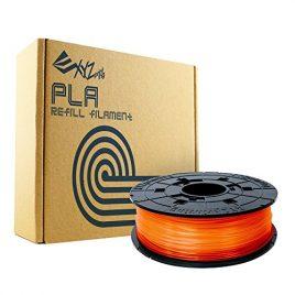 Bobine recharge de filament PLA, 600g, Orange Clair pour imprimante 3 D DA VINCI  1.0PRO – 1.0A – 1.0AiO – 2.0A – 1.1 PLUS – Super