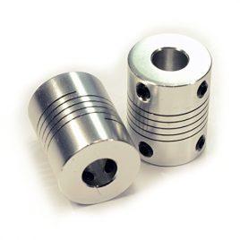 Yosoo 2pcsacoplamientos souples de aluminium NEMA 17du axe du moteur couplage pour la 3d imprimante reprap CNC de la machine d'argent