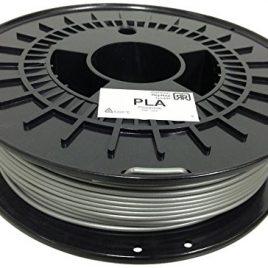 German RepRap 100254 Acide polylactique (PLA) Argent 750g matériel d'impression 3D – matériaux d'impression 3D (750 g, 3 mm)