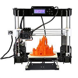 Anet Reprap i3 Imprimante 3D en kit Desktop Haute Precision DIY Acrylique Cadre – 8 G Carte SD – Taille d'impression 220 * 220 * 240 mm Support ABS / PLA / HIP / PP / Filament de bois