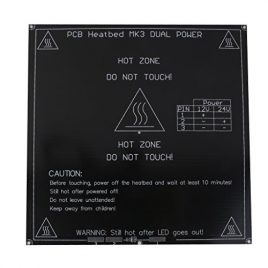 3mm Pcb Aluminium Heatbed Lit Chauffé 12 / 24v Lit De Chaleur Pour Imprimante 3d Mk3