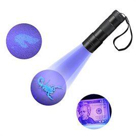 Refoss UV lampe de poche, détecteur d'urine et de taches d'animaux, Scorpion chasse lumière, 12 LED ultraviolets