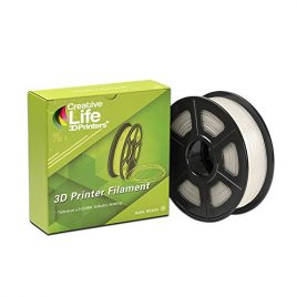Creative Life 3D Printers – Pva Filament 3D, Naturel/Transparent, Ø 1.75Mm, 0.5Kg, Tolérance En Diamètre: Seulement 0.03Mm