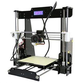LESHP Imprimante 3D Machine DIY Kit Acrylique Auto-Assemblage Haute Vitesse de précision avec LCD PLA ABS (Douille EU)