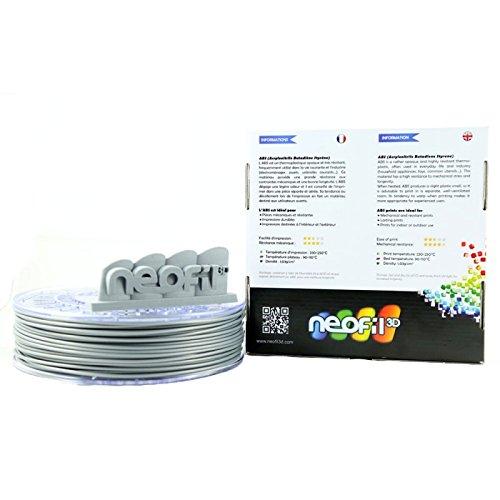 Neofil3d abs175si10750g abs filament pour imprimante 3d 1 75 mm argent - Filament imprimante 3d ...