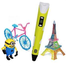 3D Stylo,Colourstone Intelligent 3D Créer Doodle Stylo DIY Pen D'impression Stéréoscopic Printing 3D Pen avec 1.75mm ABS Filament pour cadeau pour les enfants