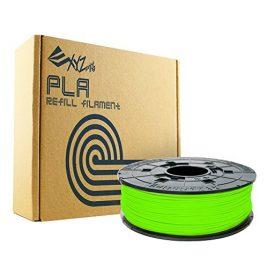 XYZprinting RFPLBXEU0AH Recharge PLA Filament, 600 g, Néon Vert