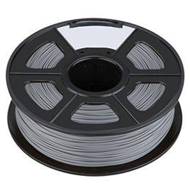 Filament – SODIAL(R)Nouvelle imprimante 3D Printing Filament ABS -1.75mm, 1kg, pour impression RepRap Couleur: Argent