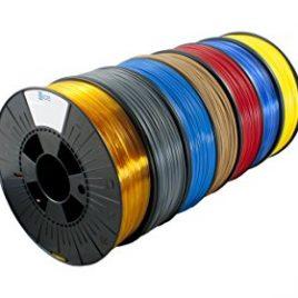 Ice fialements 7valp095Hips Filament, 1,75mm, 0,75kg, Romantic Red (Lot de 7)