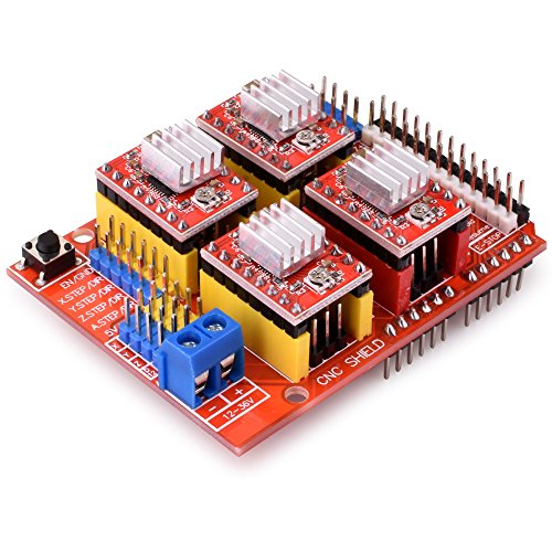 quimat arduino kit cnc avec moteur cnc shield v3 0 uno r3 4 pcs a4988 driver nema 17. Black Bedroom Furniture Sets. Home Design Ideas