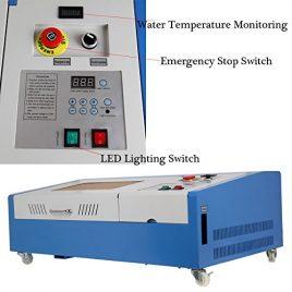 Ridgeyard 40W CO2 4roue USB Gravure Laser Machine Découpe Graveur Imprimante Coupeur Artisanat