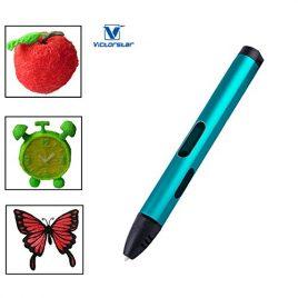 VICTORSTAR Cinquième Génération Stylo 3D X4 / Plus Grande Taille OLED Affichage + Alliage Coquille + Câble USB + Filaments PLA +Titulaire Manul / Cadeau Incroyable Pour les Enfants