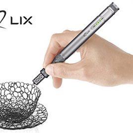 LIX PEN (Gris) – 3D Pen – 2 paquets de filaments de plastique – prise européenne
