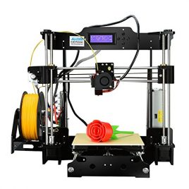 Version améliorée – ALUNAR DIY 3D Haute Précision Imprimante acrylique Reprap Prusa I3 avec 1,75 mm Impression 3D Filtre PLA, Taille d'impression 8.66 «x 8.66» x 9.06 «
