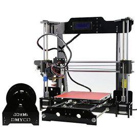 Haute Précision Imprimante 3D, Acrylique Prusa i3 Ensemble d'imprimante 3D DIY Kit Desktop Auto-Assemblage, Filament gratuit de 0,25 kg