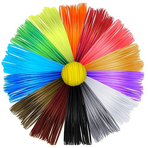 recharges de filament pla d impression 3d 15 couleurs non toxiques pour stylo d imprimerie 3d 1. Black Bedroom Furniture Sets. Home Design Ideas