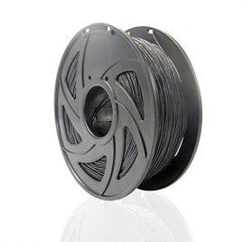 Sienoc 3 mm 3D Printer imprimeur ABS Filament 1KG Bobine de fil plastique (Noir)