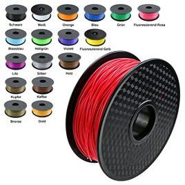 Tianse Bobine de 1kg de fil rouge pour imprimante 3D