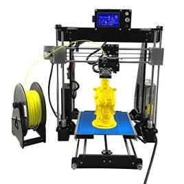 UNICUBIC U1 Haute précision Imprimante 3D, Prusa i3 Ensemble d'imprimante 3D non assemblé DIY, Taille maximale d'impression 210 * 210 * 225mm, Gratuit Filtre gratuit de 0,25 kg, Garantie de 12 mois
