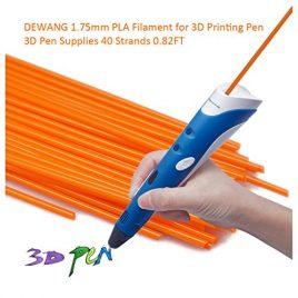 dewang Imprimante 3D Filament de 40fils 1.75mm PLA plastique pour la 3D Dessin