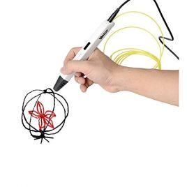 Stylo 3D Stéréoscopique Pen Printer 3Doodler Scribbler Veetop Stylo d'impresssion 3D, Intelligent; Ecran OLED, 3 Filaments ABS 1,75mm, Chargeur Secteur UK, Idéal Mini Imprimante 3d pour Art Artisanat DIY Stéréoscopie Loisirs Créatifs Cadeau Dessin en 3D