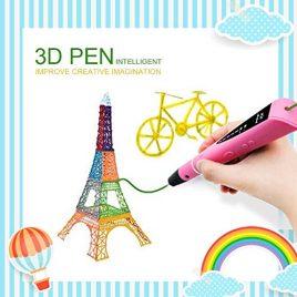 3D Stylo d'impression, MODA Intelligent Non-Toxique 3D Pen pour 3D Dessins 3D Stéréoscopiques Modélisation avec Adaptateur UE, 2 Couleurs 1.75mm PLA Filament d'impression [Compatible avec Filament en ABS & PLA]