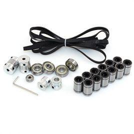 Biqu équipement imprimante 3d RepRap Prusa i3Mouvement kit 2metre Gt2Courroie + 20T Poulie de synchronisation + 608ZZ Roulement + LM8UU Roulement linéaire + 624zz Roulement + Arbre du moteur coupleur