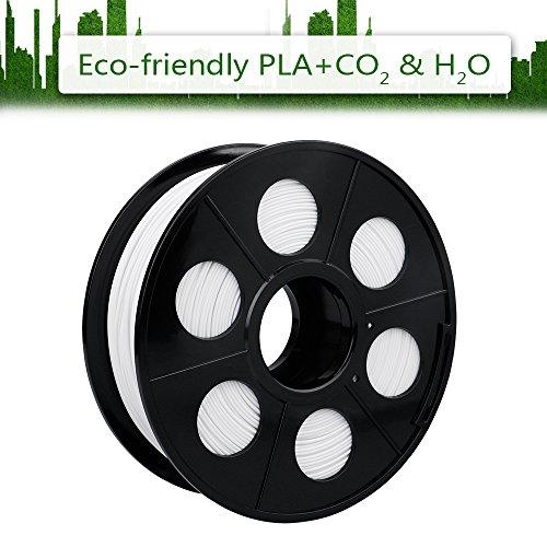 Eluteng filament pla imprimante filament 3d printing pla blanc 1kg printer filaments - Filament imprimante 3d ...
