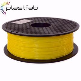 Plastfab – Filament PLA + Jaune 1KG 1.75 mm – PLA renforcé – Qualité premium – Marque Française