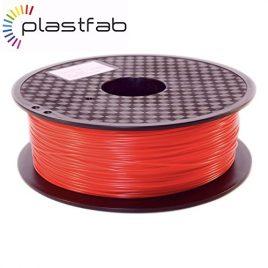 Plastfab – Filament PLA + Rouge 1KG 1.75 mm – PLA renforcé – Qualité premium – Marque Française