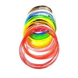 Recharges pour stylo 3D Filament 1,75mm ABS 15couleurs différentes pour crayons 3D–5m chaque (sans bulles)