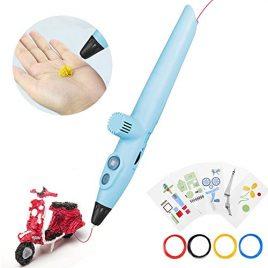 Stylo d'impression 3D, stylo à dessin 3D, stylo à impression stéréoscopique 3D avec 5 modèles de papier pour la pratique, cadeaux et jouets pour garçons et filles