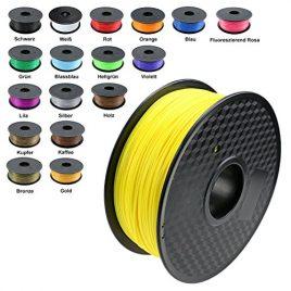 TIANSE Imprimante 3D Filament PLA 1.75 mm 1KG, Jaune
